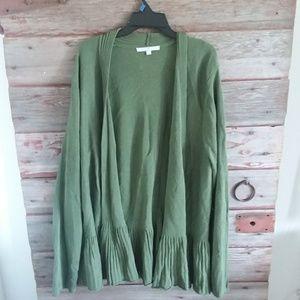 Sweaters - Olive green cardigan